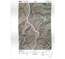 USGS Topo Map Indiana ID Captain John Rapids 20110429 TM Poster