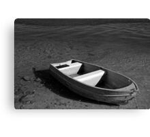 lonely litte boat Canvas Print