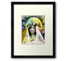 Hipster Madonna Framed Print