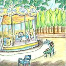 Carousel Tuileries Gardens by Karen Bailey