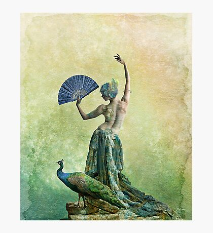 Peacock Dance Photographic Print