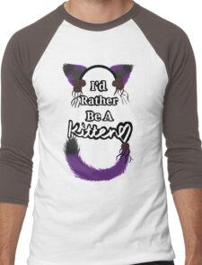 I'd Rather Be A Kitten..Romantic Goth Style Men's Baseball ¾ T-Shirt