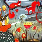 Girl with squirrels by soogie