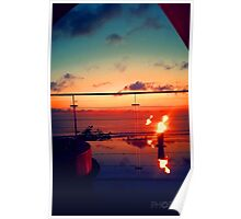 Bali Sunset Flame Poster