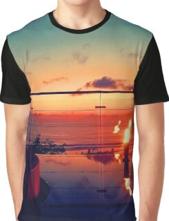 Bali Sunset Flame Graphic T-Shirt