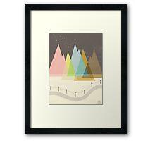 Highway Under Stars Framed Print