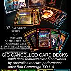 GIG CANCELLED - card deck art by robert (bob) gammage