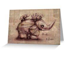 vintage upside down elephants Greeting Card