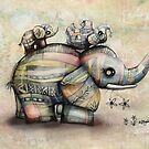 Upside Down Elephants by © Cassidy (Karin) Taylor