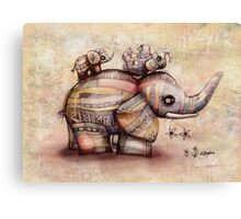 upside down elephants Canvas Print