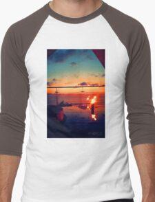 Bali Sunset Flame Men's Baseball ¾ T-Shirt