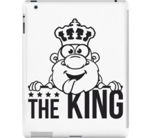 the king chef cool party funny comic cartoon iPad Case/Skin