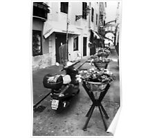 A Streetview in Santa Margherita, Italy BW Poster