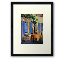 The Blue Shutters Framed Print
