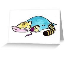 Sleepy Times - Baby Cheetah Greeting Card