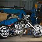 Mark's Black Custom Chopper by HoskingInd