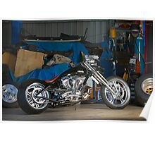 Mark's Black Custom Chopper Poster