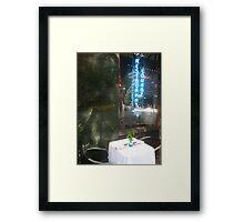Sidewalk Table Framed Print