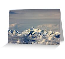 Everest from above.. Greeting Card