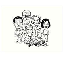 Vintage Dick Van Dyke Show Art Print