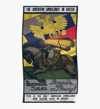 The American ambulance in Russia4 002 Poster