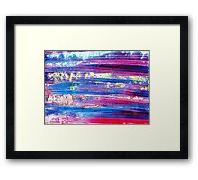 Blue Flash Framed Print