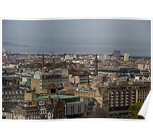 View of Edinburgh from the Castle Poster