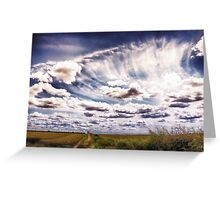Sweeping clouds Greeting Card