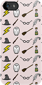 Harry Potter Doodle iphone case by Sherlock-ed