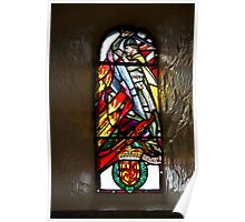 Stained glass window of William Wallace in Edinburgh Castle Poster