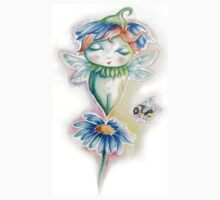 Flower Fairy - watercolor - by Willow Heath Kids Clothes