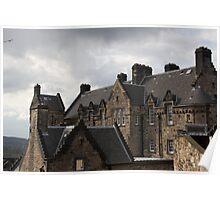 Upper part of Edinburgh Castle  Poster