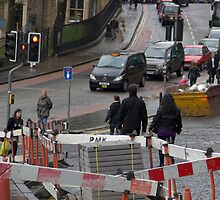 Repair work on the streets of Edinburgh by ashishagarwal74