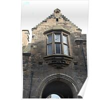 Structure of upper part of gate of Edinburgh Castle Poster