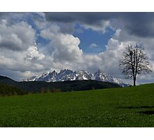 In the Dolomites - Tyrol, Italy Photographic Print
