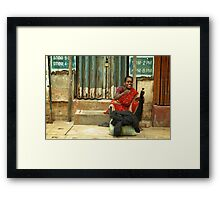 Come Here! You Need Some Hair!  Framed Print