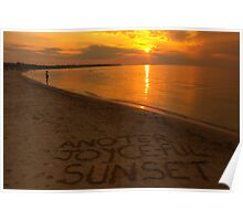 Series For A Friend #5 - Another Joyce-ful Sunset ©  Poster
