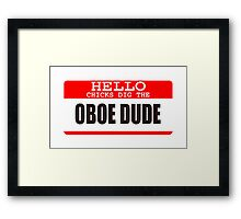 Oboe Framed Print