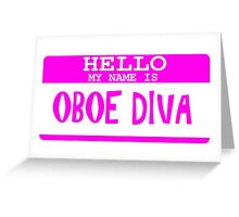Oboe Greeting Card