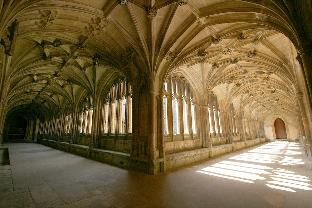 The Cloisters at Lacock Abbey 2 by Amanda Clegg