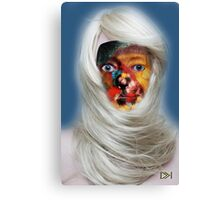 mask fantasy in blonde Canvas Print