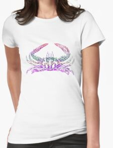 Rainbow crab Womens Fitted T-Shirt