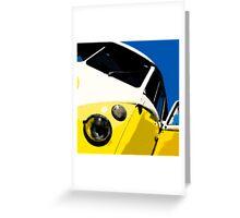 Yellow Splitscreen Drawing Greeting Card