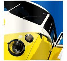 Yellow Splitscreen Drawing Poster