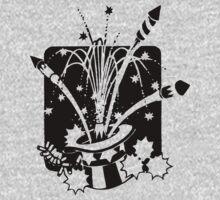 American Symbols, Flag Hat Fireworks-Gray by artonwear