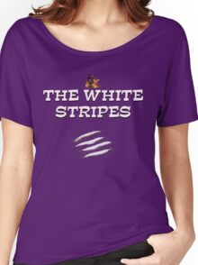 the white stripes Women's Relaxed Fit T-Shirt
