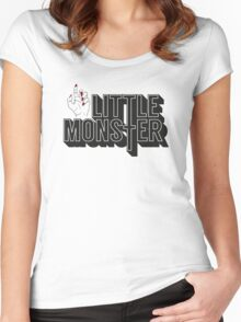 Little Monster Paws Up Women's Fitted Scoop T-Shirt