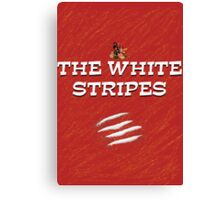 the white stripes Canvas Print