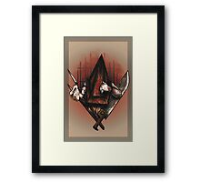 Red Pyramid Thing Framed Print