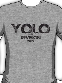 YOLO! YOU ONLY LIVE ONCE! so do it WITH REVISION!!!!!!!! T-Shirt